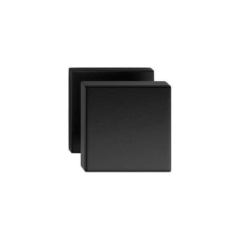 Gałka Aegis z kwadratowym szyldem czarna