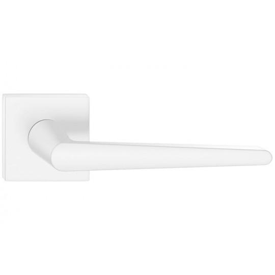 Klamka Arrow szyld kwadratowy, biała
