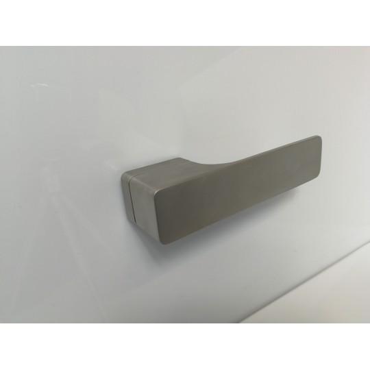 Klamka Minimal M&T szyld kwadratowy SNi-szlif nikiel mat szlifowany