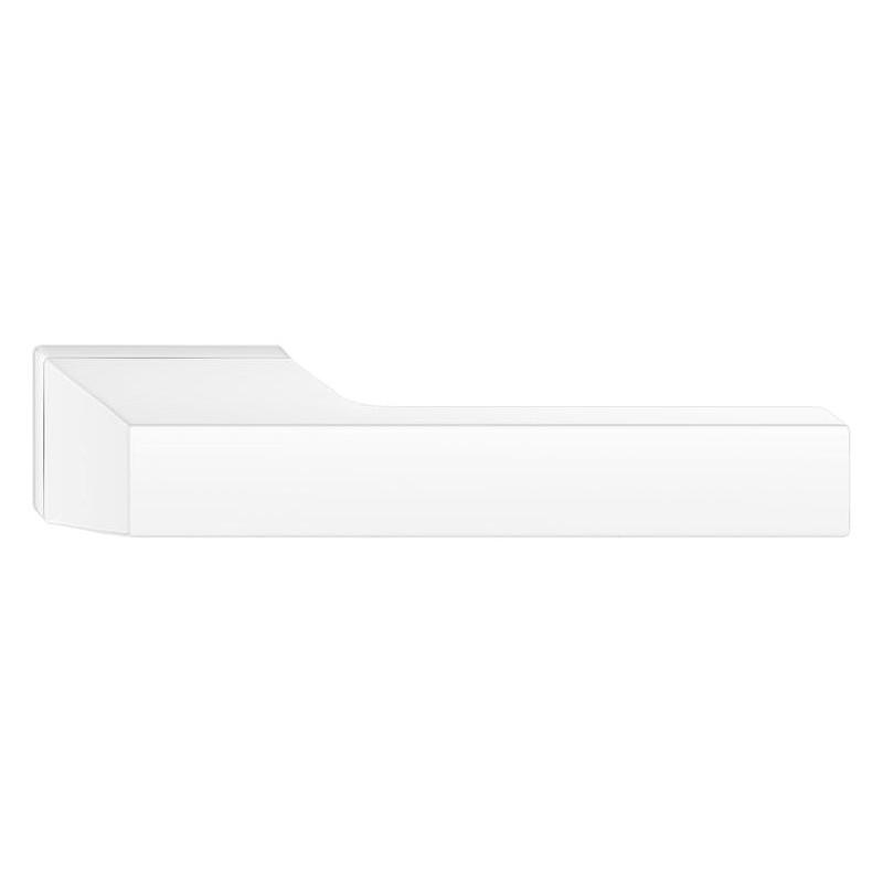 Klamka Maxima z szyldem ukrytym, biała
