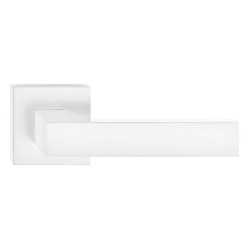 Klamka Cube szyld kwadratowy, biała