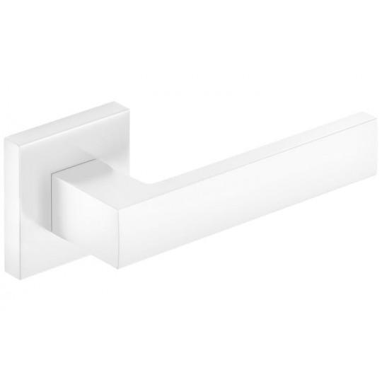 Klamka Focus szyld kwadratowy, biała