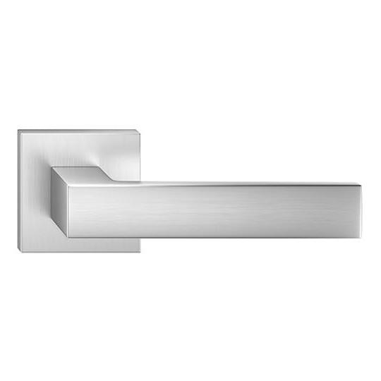 Klamka Focus szyld kwadratowy, chrom szczotkowany matt