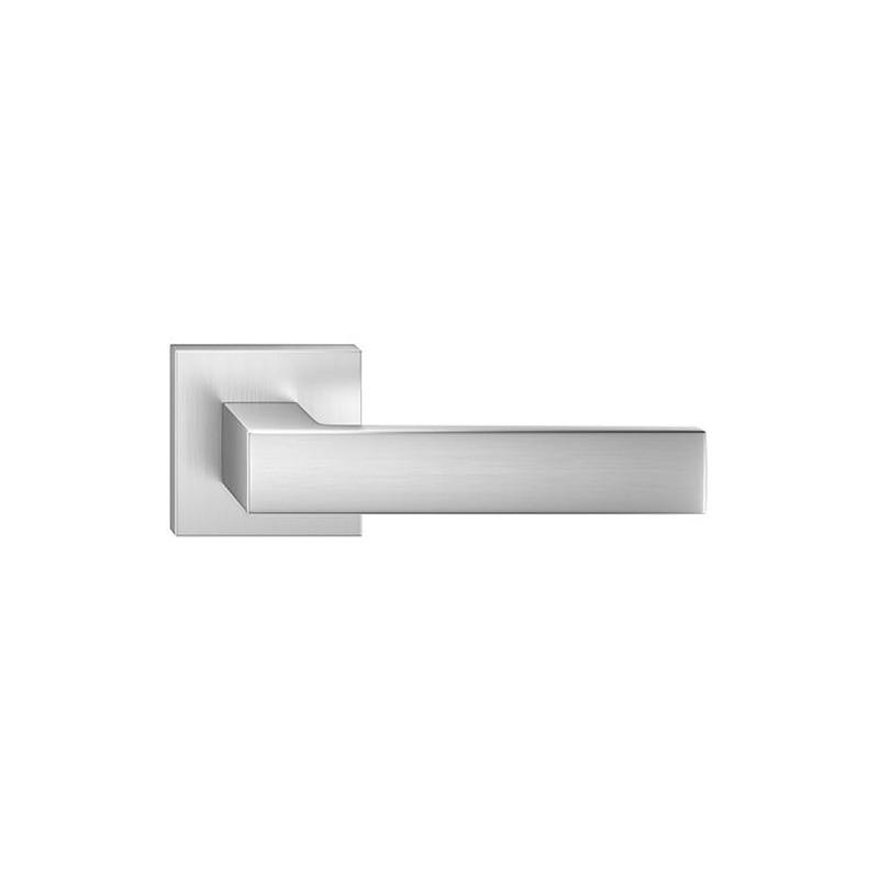 Klamka Cube szyld kwadratowy, chrom szczotkowany matt