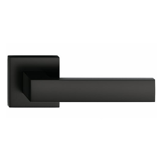 Klamka Focus szyld kwadratowy, czarna