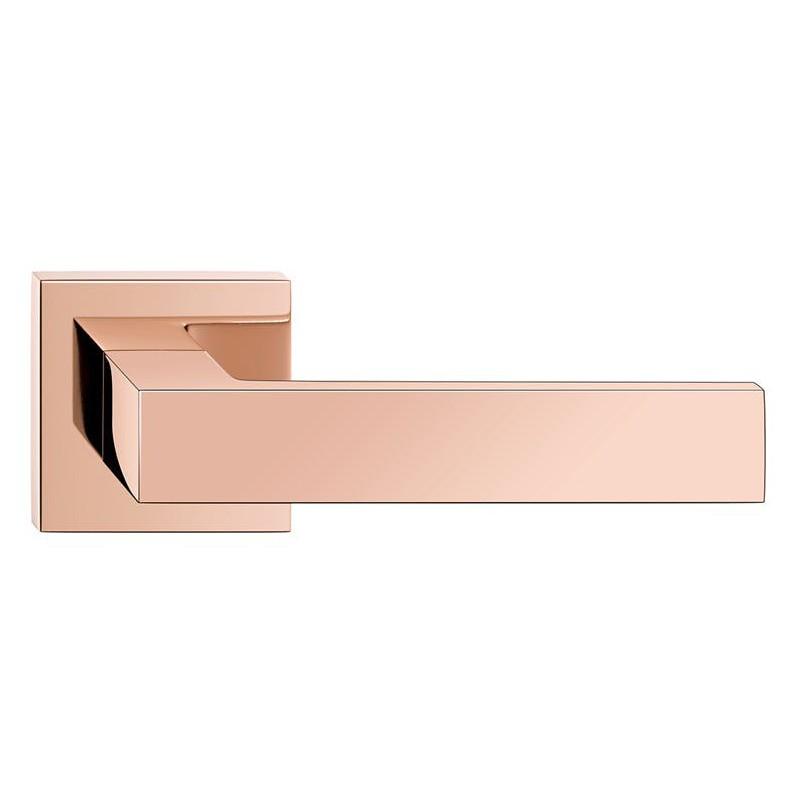 Klamka Cube szyld kwadratowy, miedź PVD
