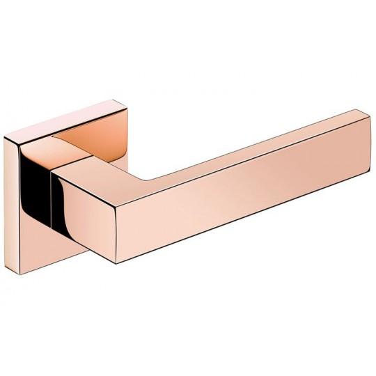 Klamka Focus szyld kwadratowy, miedź PVD
