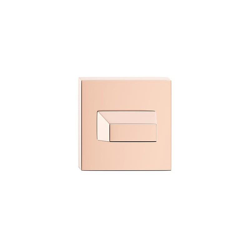 Rozeta WC miedź do klamek kwadratowych