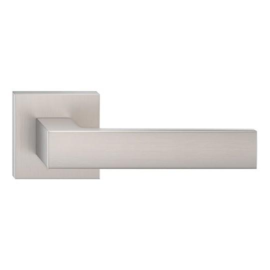 Klamka Focus szyld kwadratowy, nikiel szczotkowany matt