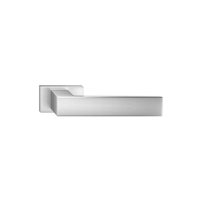Klamka Focus z szyldem prostokątnym, chrom szczotkowany matt