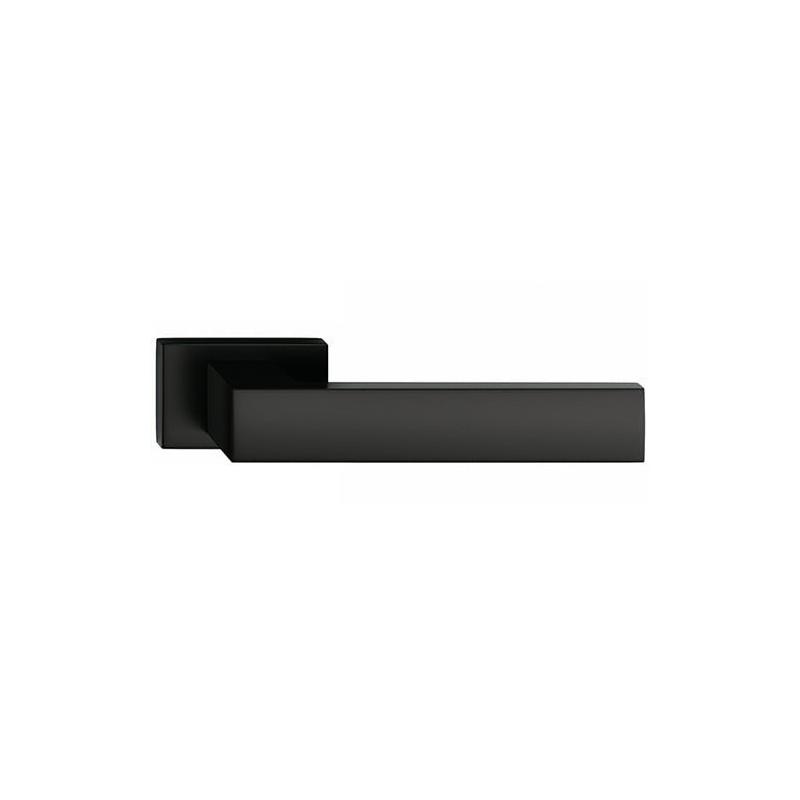 Klamka Focus z szyldem prostokątnym, czarna
