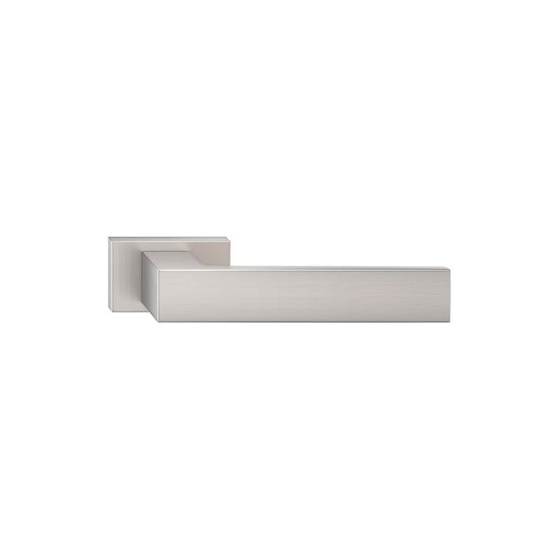 Klamka Focus z szyldem prostokątnym, nikiel szczotkowany matt