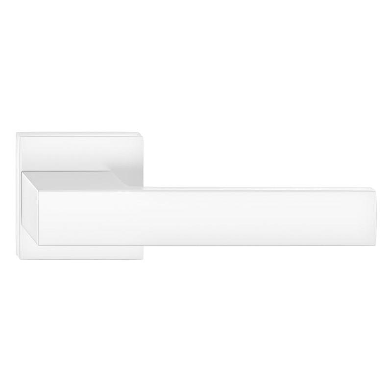 Klamka Grand szyld kwadratowy, biała
