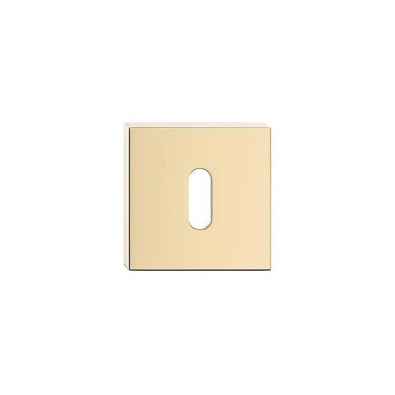 Szyld kwadratowy na klucz mosiądz błyszczący
