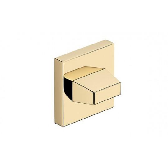 Rozeta WC mosiądz błyszczący do klamek kwadratowych