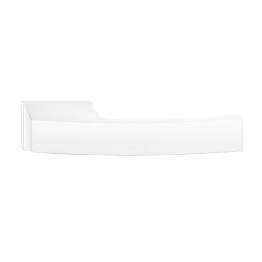 Klamka Arc z szyldem ukrytym, biała