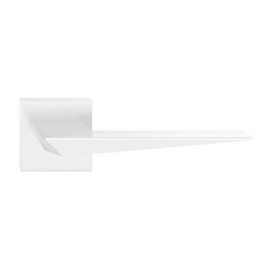 Klamka Blade szyld kwadratowy, biała