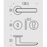 Klamka Colombo Lund GM - grafite mat