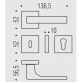 Klamka Robocinque S kolor GM -grafite mat