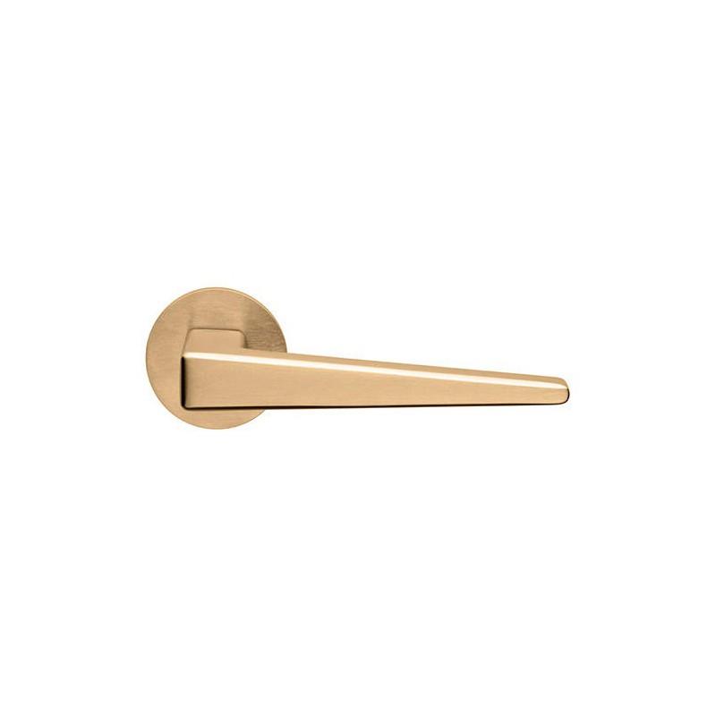 Klamka CLOE DND szyld okrągły kolor antyczne satynowe złoto PVD PVD-SG