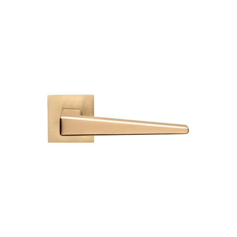 Klamka CLOE DND szyld kwadratowy kolor antyczne satynowe złoto PVD PVD-SG
