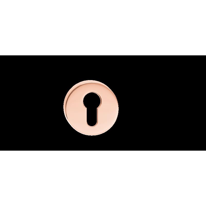 Szyld okrągły na wkładkę miedź błyszcząca