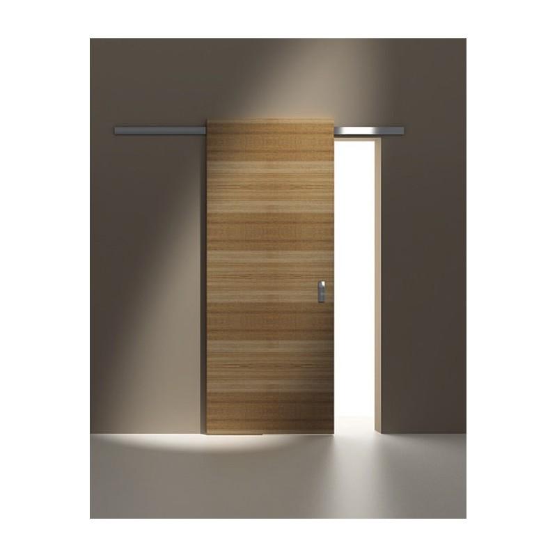 System przesuwny Minima do drzwi drewnianych 2m srebrny mat aluminium 12mm