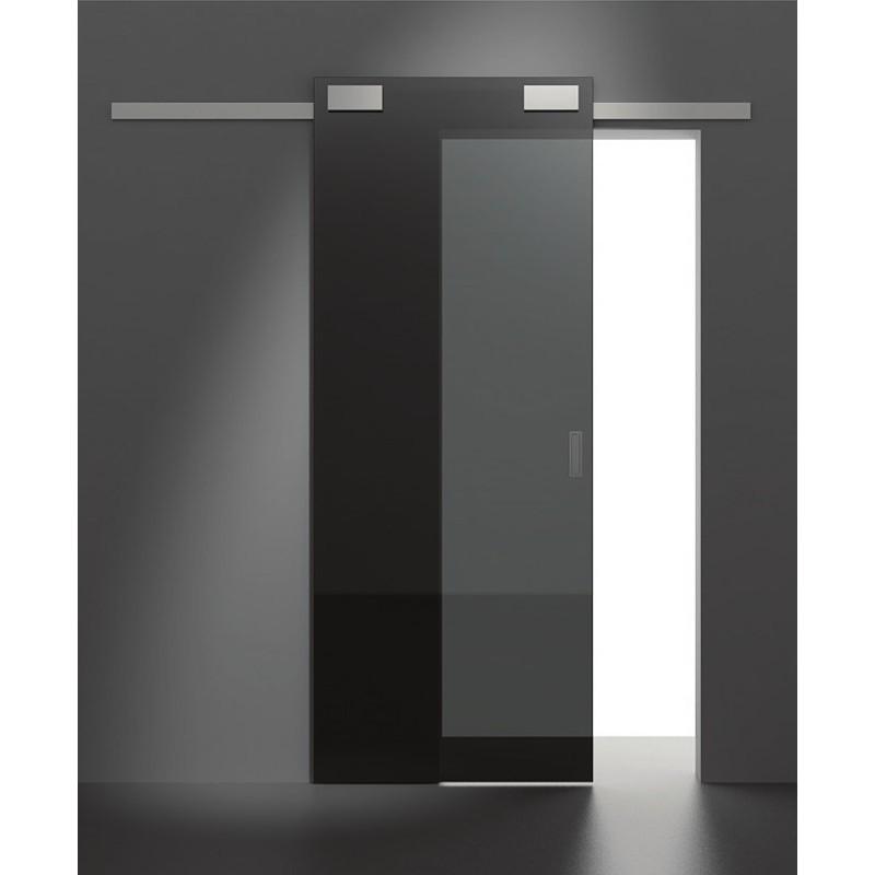 System przesuwny Minima do drzwi szklanych 2m srebrny mat aluminium 12mm