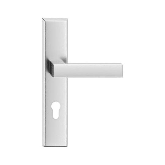klamka inox TOPAZ do drzwi zewnętrznych 90 mm