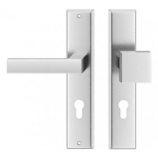 Klamka TOPAZ na wkładkę do drzwi zewnętrznych Inox