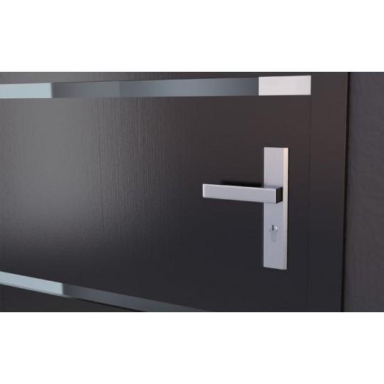 Klamka TOTAL długi szyld na wkładkę do drzwi zewnętrznych Inox Plus