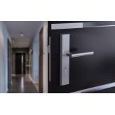 Klamka METRO długi szyld na wkładkę do drzwi zewnętrznych Inox
