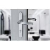 Klamka PROXIMA długi, wąski szyld na wkładkę do drzwi zewnętrznych Inox