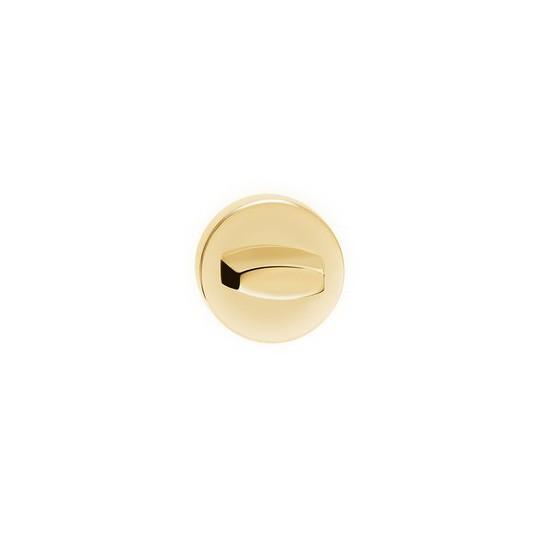 Rozeta WC mosiądz błyszczący do klamek okrągły szyld