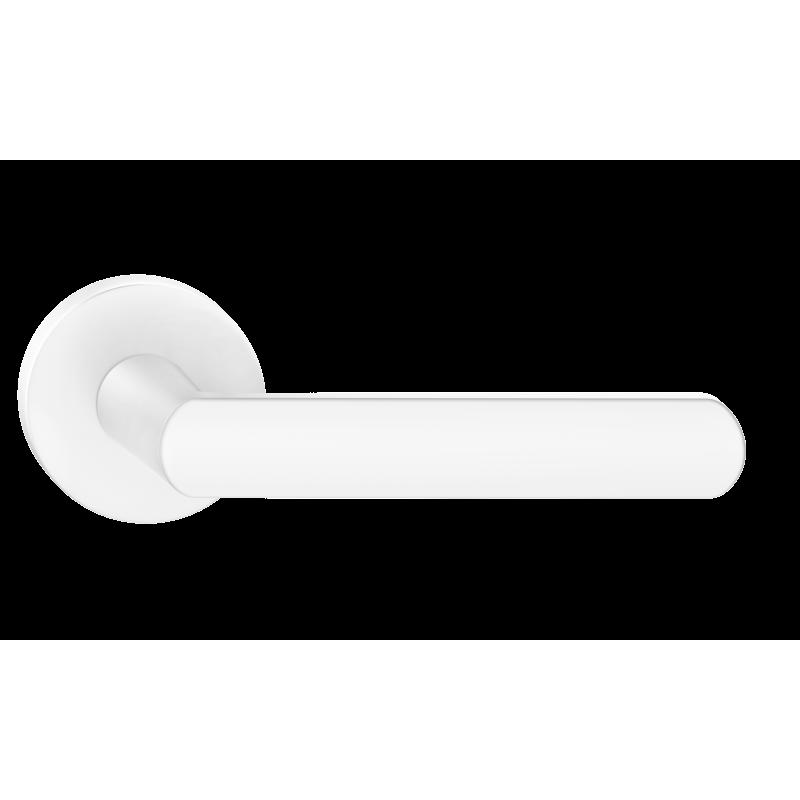 Klamka Icona R szyld okrągły, biały