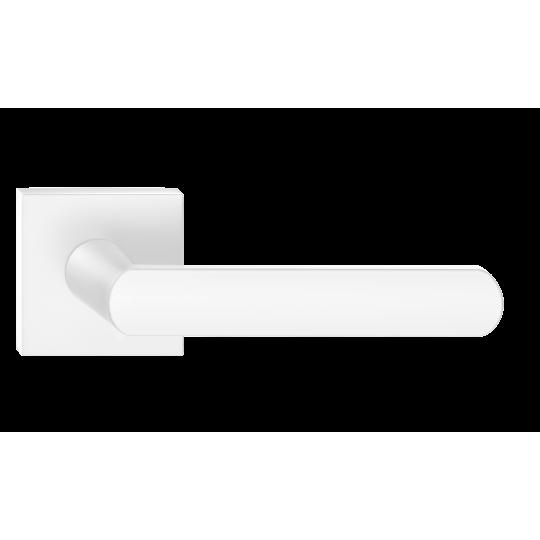 Klamka Icona Q szyld kwadratowy, biały