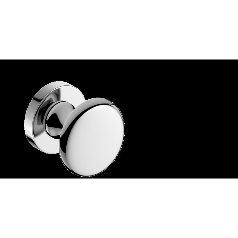 Gałka Orbis R z okrągłym szyldem chrom