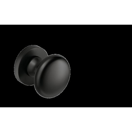 Gałka Orbis R z okrągłym szyldem czarny