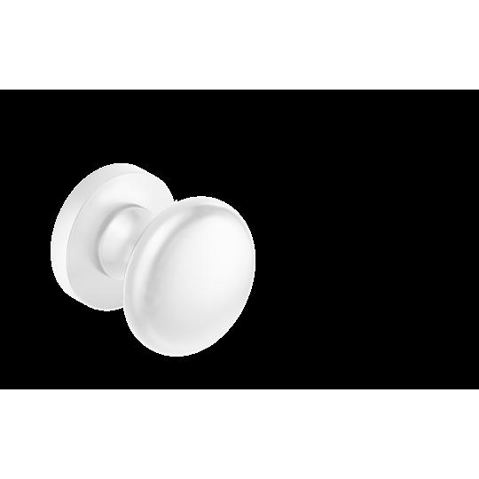 Gałka Orbis R z okrągłym szyldem biała