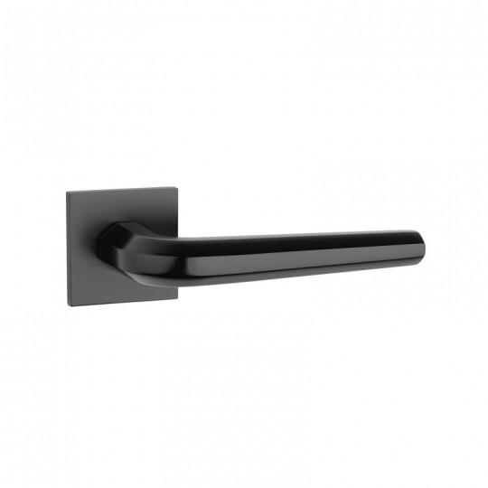 Klamka Tupai 4160Q 5S 153 szyld kwadratowy czarny