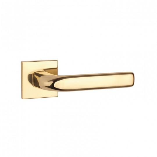 Klamka Tupai 4162Q 5S 01 szyld kwadratowy złoto