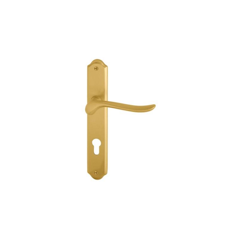 Klamka RONDO 04 złoty matowy długi szyld
