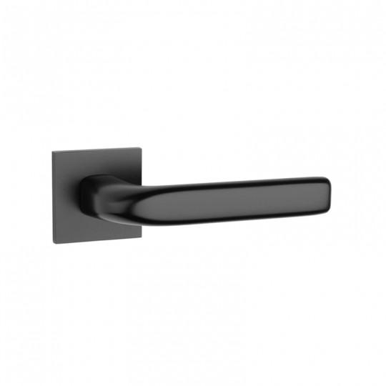 Klamka Tupai 4162Q 5S 153 szyld kwadratowy czarny