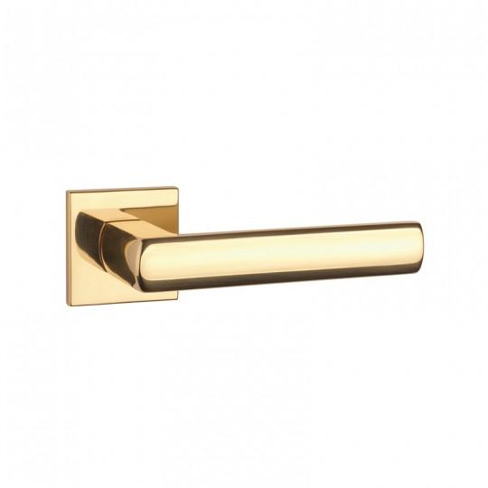 Klamka Tupai 4161Q 5S 01 szyld kwadratowy złoto