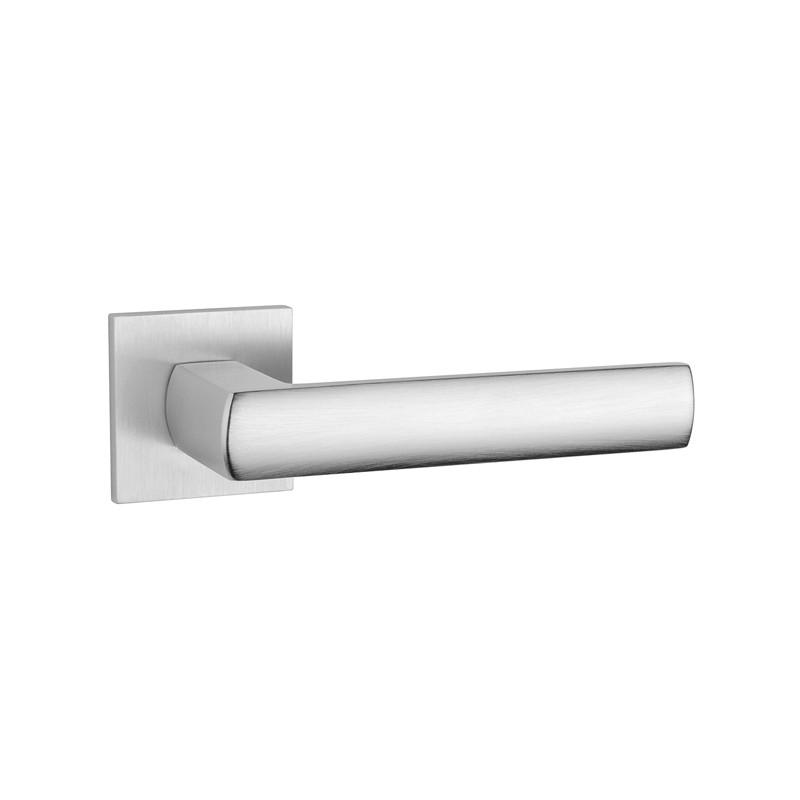 Klamka Tupai 4161Q 5S 96 szyld kwadratowy chrom szczotkowany