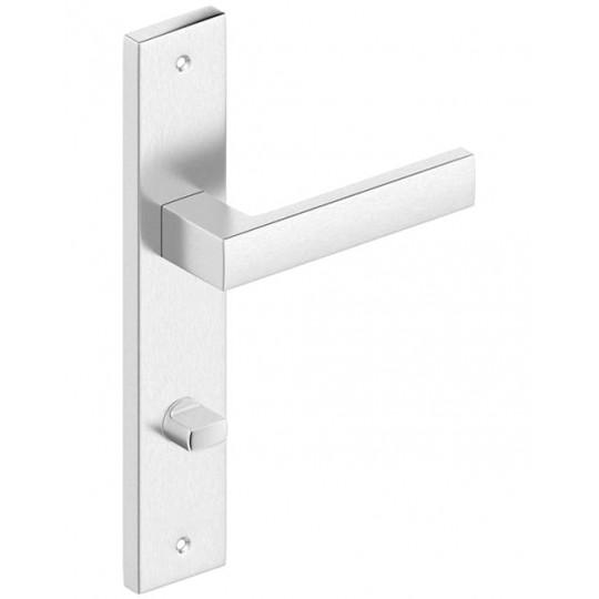 Klamka TOPAZ długi szyld wc do drzwi wewnętrznych Inox