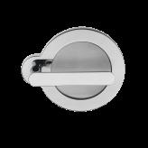 Klamka SATURN Manital okrągła rozeta chrom błyszczący/ ciemny brąz
