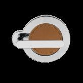 Klamka SATURN Manital okrągła rozeta chrom błyszczący/jasny brąz