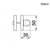 Klamka CLINIA Manital kwadratowa rozeta OTL mosiądz błyszczący