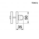 Klamka SHINY Manital kwadratowa rozeta CRO chrom błyszczący z kryształkami SWAROVSKI